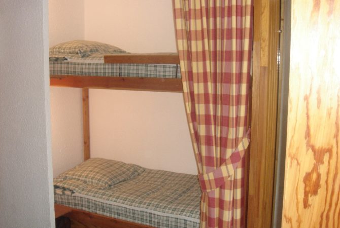 Coin nuit n°1 avec lits superposés