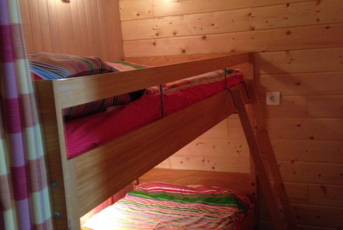 Coin nuit n°2 avec lits superposés