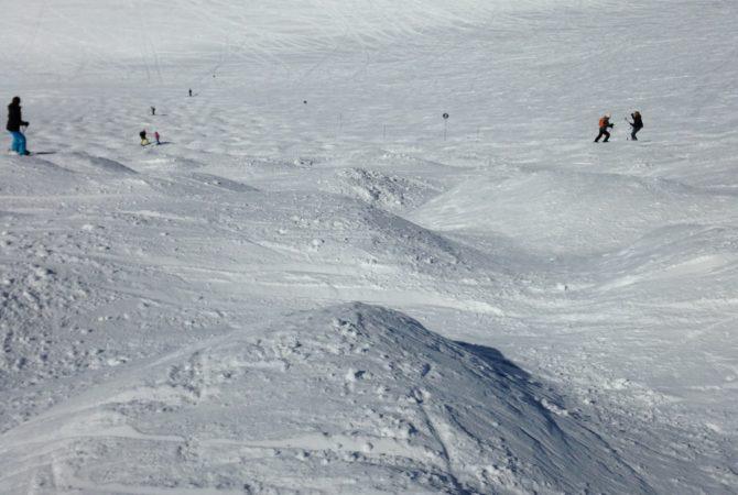 Quelques bosses pour les bons skieurs