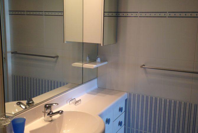meuble simple vasque dans la salle d'eau
