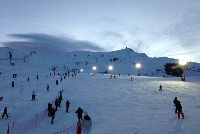 Ski nocturne à La Toussuire